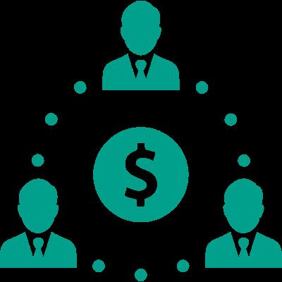 turkusowa ikona biznesmen ludzie pieniadz