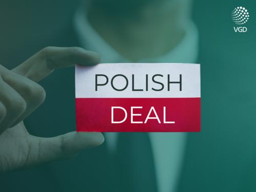Polish Deal Polski Ład flag male hand